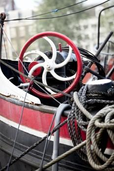 boat in Amsterdam