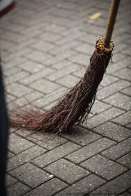 street sweeper in Amsterdam