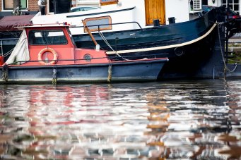 boats in Amsterdam