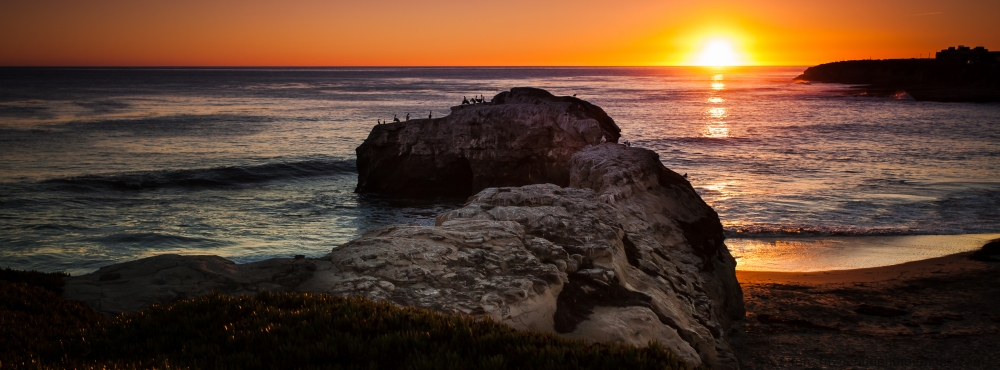 Sunset at Natural Bridges