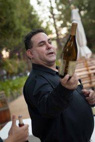 Wine server at the Testarossa Winery.
