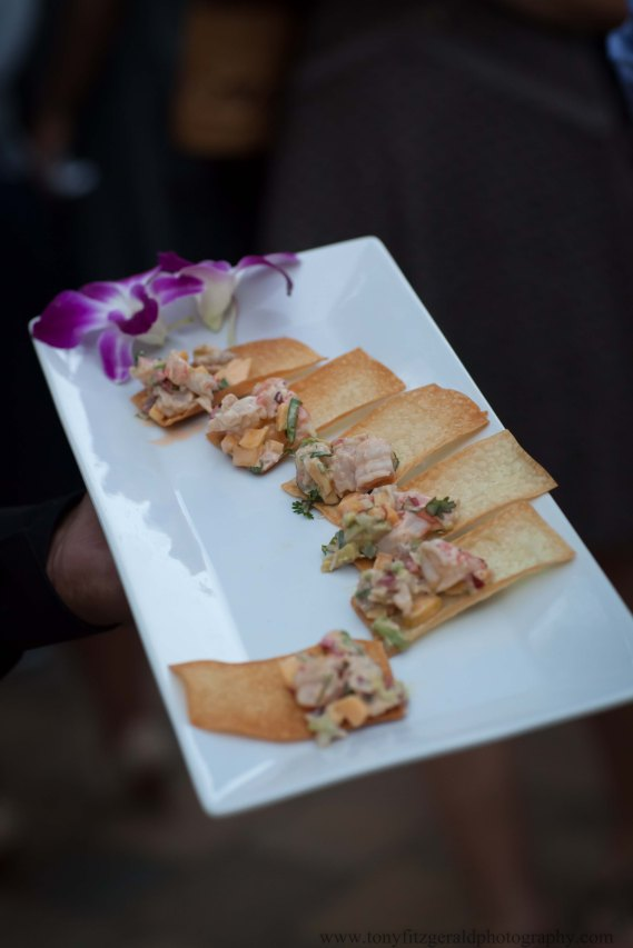 Hors d'oeuvres carried by server