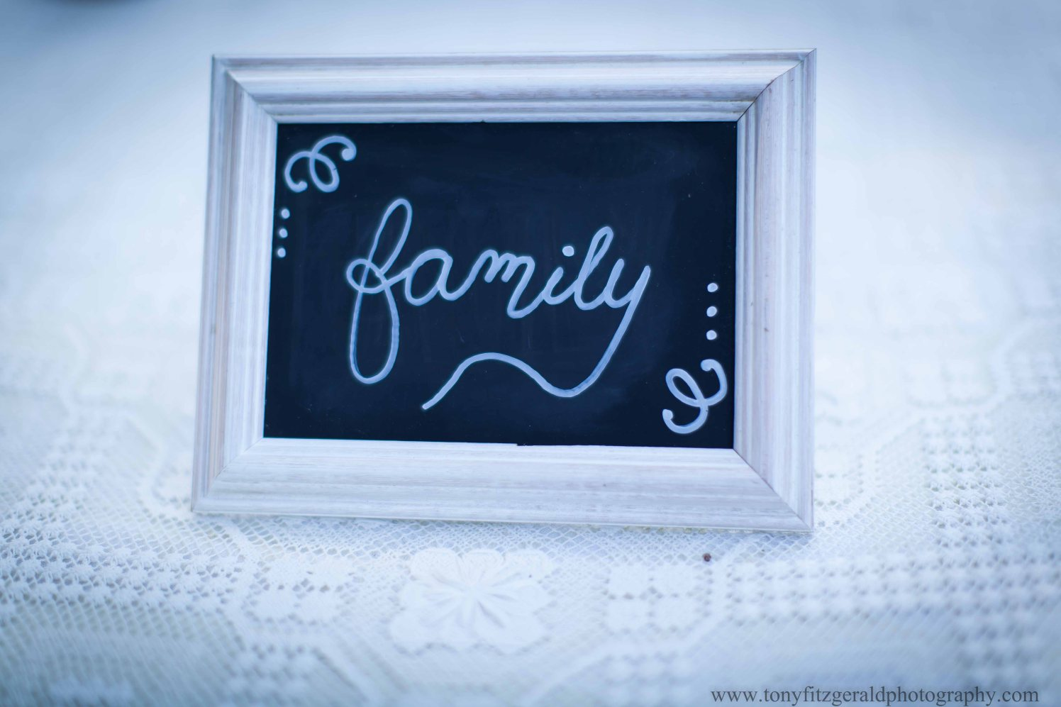Family blackboard sign