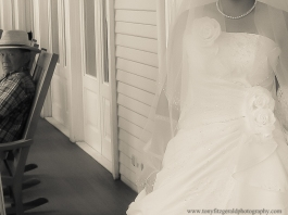 Bride emerging from her room